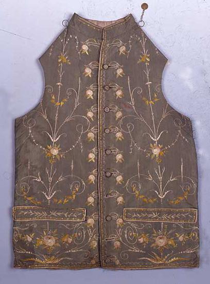 Gilet.-Francia,-1780-1790