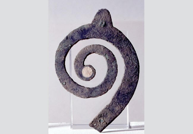 Modello di lituo in bronzo. S. Ilario d'Enza. VI-V secolo a.C.