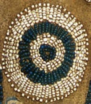 Faretra dei Sioux occidentali con motivi simbolici (particolare)