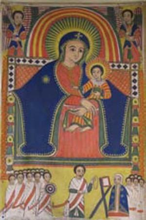 Stendardo copto con la Vergine e il Bambino
