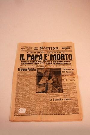 """Come parteciperemo – Giornale """"Il Mattino"""", 9 ottobre 1958"""