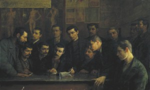 Come parteciperemo – Gruppo di componenti la Cooperativa pittori di Reggio Emilia