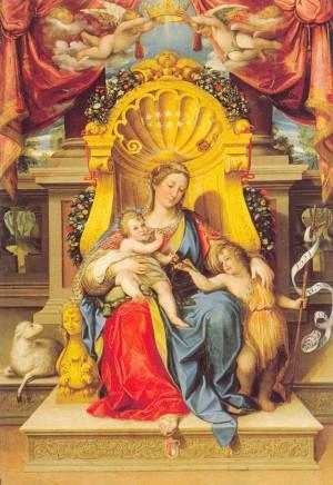 Lorenzo Franchi, La Madonna, il Bambino e San Giovannino, fine XVI-prima metà XVII