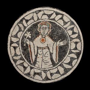 Mosaico raffigurante la Vergine, Chiesa di San Tommaso di Reggio Emilia, XII secolo (part.)