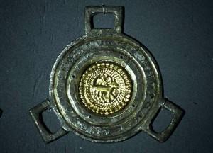 Falera in argento e oro di epoca longobarda, Reggio Emilia