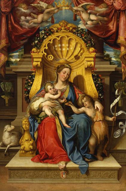 La Madonna in trono con il Bambino e San Giovannino