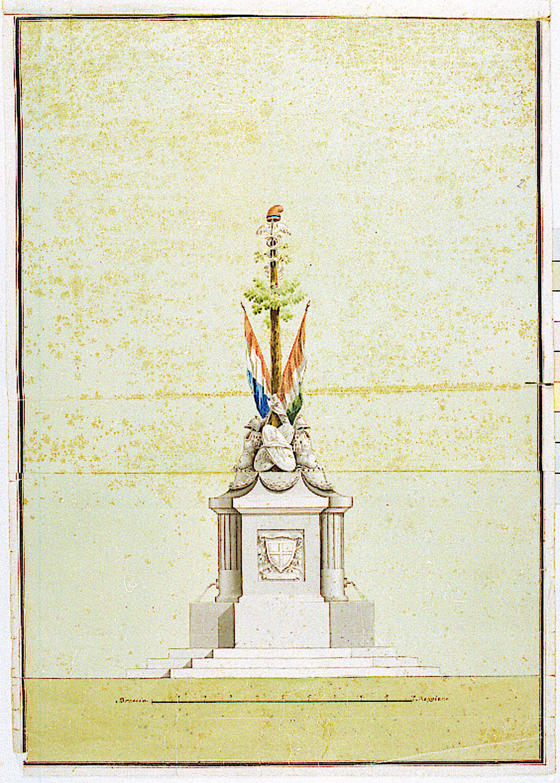 Progetto per innalzare l'albero della libertà a Reggio