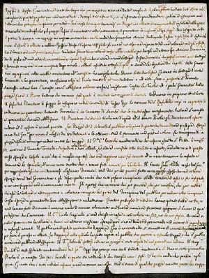 Filippo RE. Lettera alla cognata Caterina Busetti Re – Reggio, 21 agosto 1796