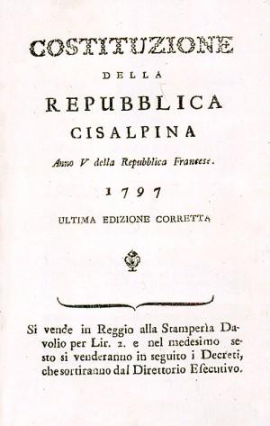 Costituzione della Repubblica Cispadana – 1797