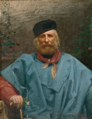 Ritratto di Giuseppe Garibaldi, dipinto di Giuseppe Ugolini- sec. XIX