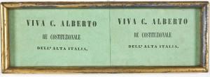 Biglietti inneggianti a Carlo Alberto re costituzionale dell'Alta Italiana