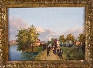 Il combattimento di Governolo, dipinto sul luogo da Alessandro Prampolini – 1848