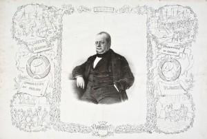 Camillo Benso conte di Cavour, litografia – sec. XIX