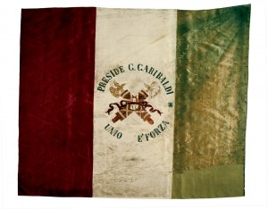 Bandiera dei Cacciatori del Crostolo – 1862