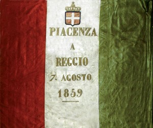 """Bandiera """"Piacenza a Reggio 7 agosto 1859"""""""