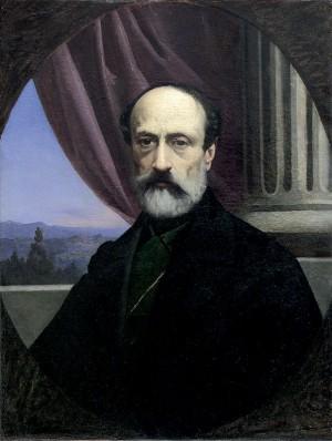 Ritratto di Giuseppe Mazzini, dipinto di Gaetano Chierici