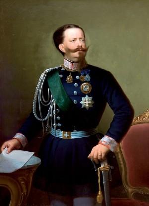Ritratto di Vittorio Emanuele II, dipinto di Giuseppe Ugolini- sec. XIX