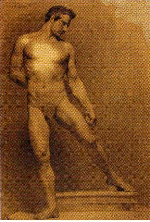 Adeodato Malatesta – Nudo virile in piedi