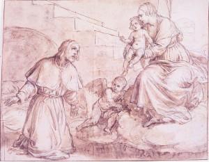 Alessandro Turchi detto L'Orbetto – La Vergine col Bambino appare a sant'Alessio