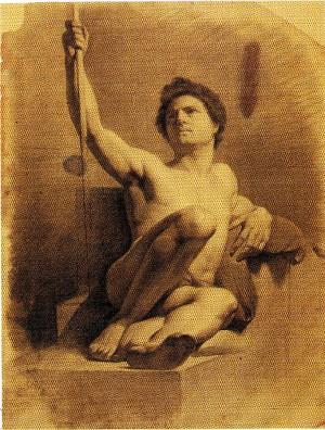 Alfonso Chierici – Nudo con asta seduto