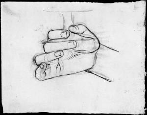 Alfonso Chierici – Studio di mano_1