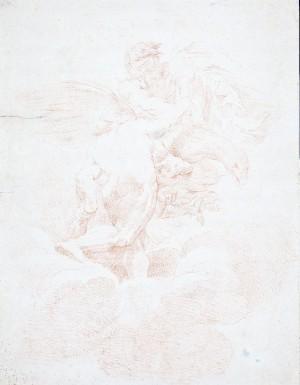 Ambito bolognese (copia da Ludovico Carracci) – Ercole accolto da Giove nell'Olimpo