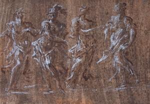 Ambito emiliano (XVIII secolo) – Nettuno, Marte, Minerva e Flora