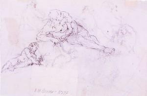 Angelo Michele Colonna – Studi di fauni e nudi maschili