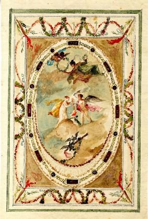 Anonimo (XIX secolo) – Schizzo per decorazione di soffitto con scena mitologica