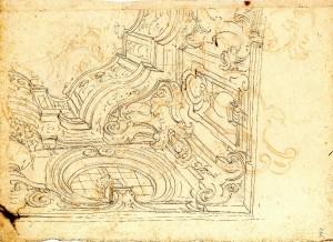 Anonimo (XVIII secolo) – Decorazione di soffitto balconato