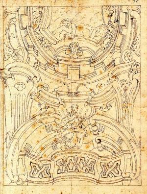 Anonimo (XVIII secolo) – Decorazione di soffitto con putto