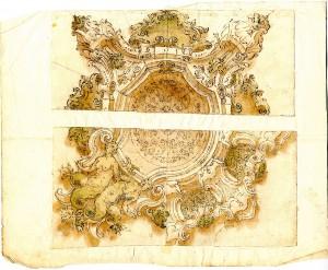 Anonimo (XVIII secolo) – Due motivi decorativi per soffitti