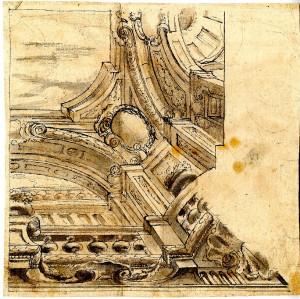Anonimo (XVIII secolo) – Due motivi decorativi per soffitto