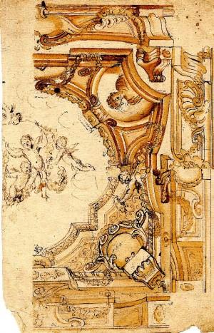 Anonimo (XVIII secolo) – Due motivi di angolo di soffitto