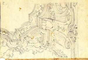 Anonimo (XVIII secolo) – Schizzo di soffitto