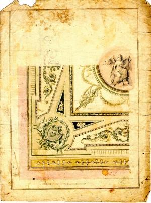 Anonimo (XVIII secolo) – Schizzo per decorazione di soffitti