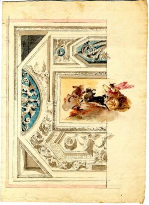 Anonimo (XVIII secolo) – Schizzo per decorazione di soffitto
