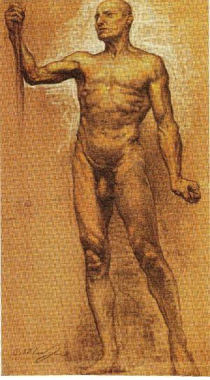 Augusto Mussini – Nudo virile dal Doriforo di Policleto