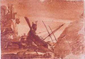 Baccio del Bianco – Veduta marina con una galera rovesciata