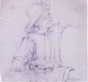 Bernardino Poccetti – Giovane a mezzo busto, rivolto a destra