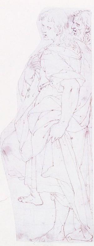 Camillo Procaccini – Figura virile paneggiata, di profilo a sinistra