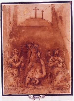 Cesare Nebbia – Cristo alla colonna compianto da due angeli