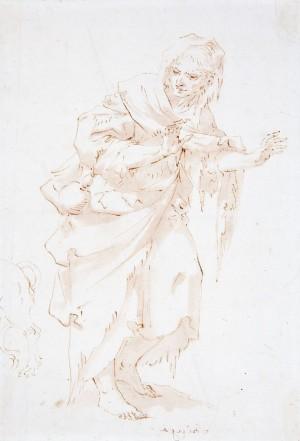 Francesco Stringa – Vecchia mendicante con cane