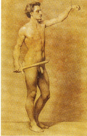 Gaetano Chierici – Nudo con spada in mano