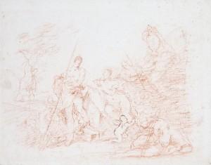 Giovanni Angelo Borroni – Scena della vita di Diana