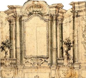 Giovanni Antonio Paglia – Progetto di decorazione per altare