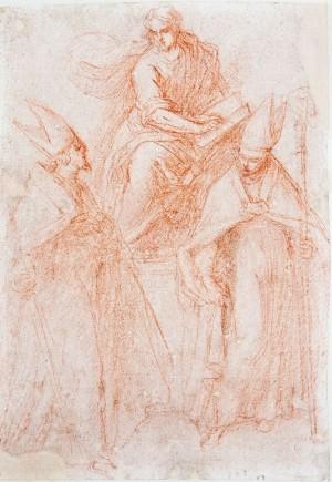 Jacopo Negretti detto Palma il Giovane – San Marco in trono e due santi vescovi