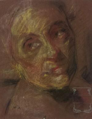 Ottorino Davoli – Studio per ritratto della pianista Rinaldi