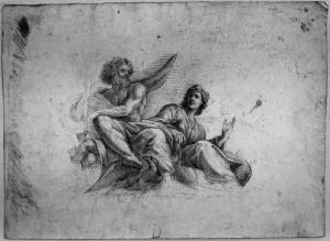 Prospero Minghetti – Figure Mitologiche con aquila