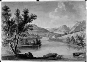 Prospero Minghetti – Paesaggio montano